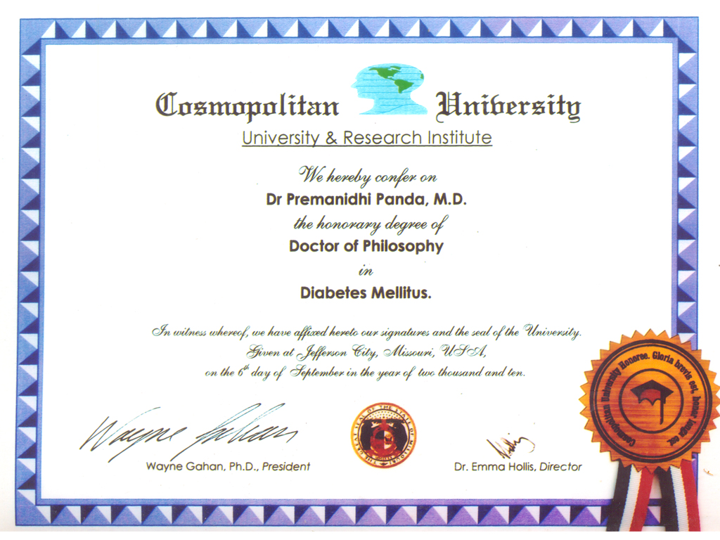 dr certificate
